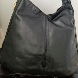 GIVENCHY black leather purse